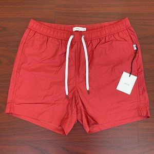 "Onia ""Charles"" Swim Trunks In Cardinal Red"